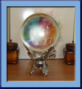 Crystal Ball used in psychic readings